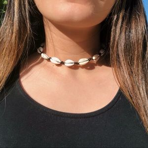 Black Seashell Choker Necklace VSCO Jewelry